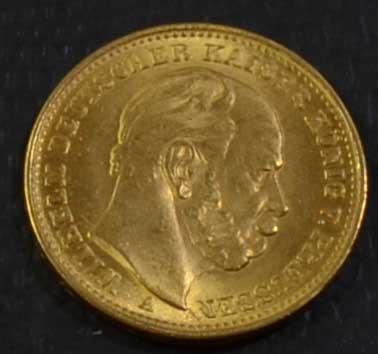 Deutsches Reich 20 Mark Gold 1876 Kaiser Wilhelm