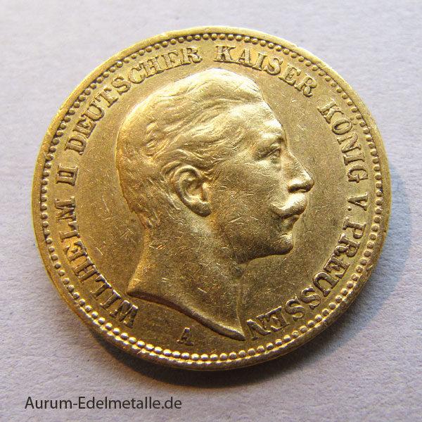 Deutsches Reich 20 Mark Wilhelm II Preussen 1871-1915