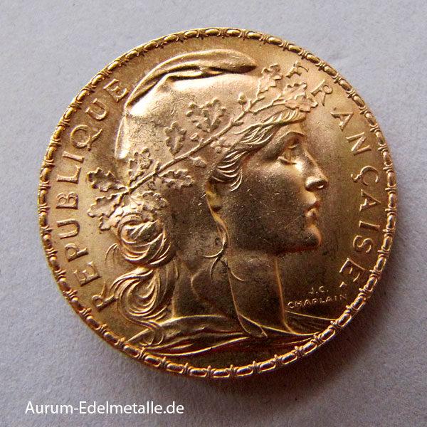 Frankreich 20 Francs Gold Marianne Coque