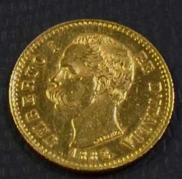 Italien 20 Lire 1882 Umberto 1