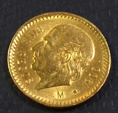 Mexico 10 Pesos Goldmuenze 1906