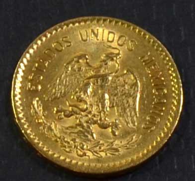 Mexiko 10 Pesos Hidalgo Goldmuenze 1906