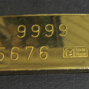 Goldbarren 100 Gramm Feingold 9999 historisch Schweiz Cendre et Metaux