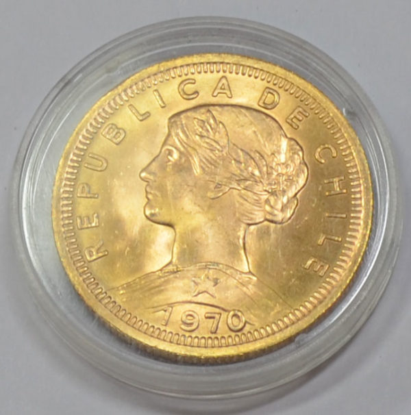 Chile 100 Pesos Goldmuenze - Republica de Chile, Cien Pesos Anlage und Sammlermuenze