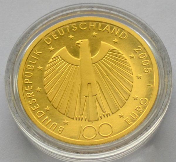 Deutschland-100 Euro Goldmuenze 15,55g FeingoldFussball-Weltmeister 2006