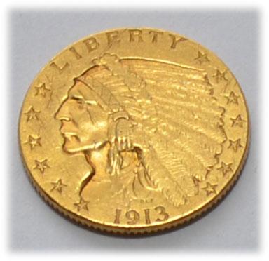 USA 2_5 $ Dollars Gold Indian Head Quarter-Eagle