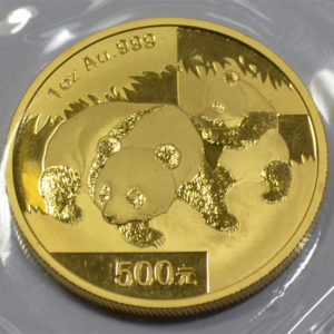 China Panda 2008 1oz Feingold 9999 500 Yuan