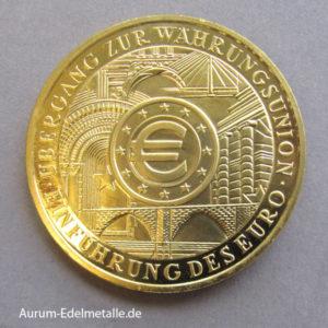 Deutschland 200 Euro Gold 1oz Währungsunion 2002