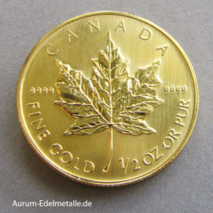 Maple Leaf 1_2 oz Feingold Kanada