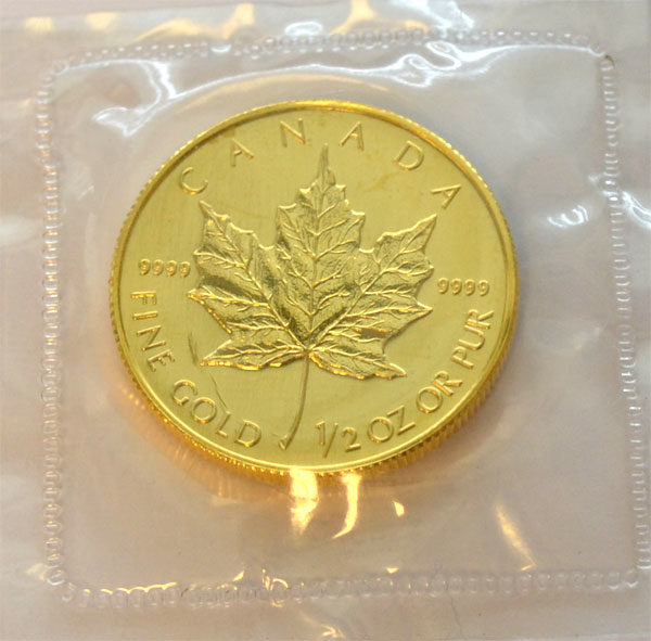 Kanada Maple Leaf 1_2 oz Feingold 9999
