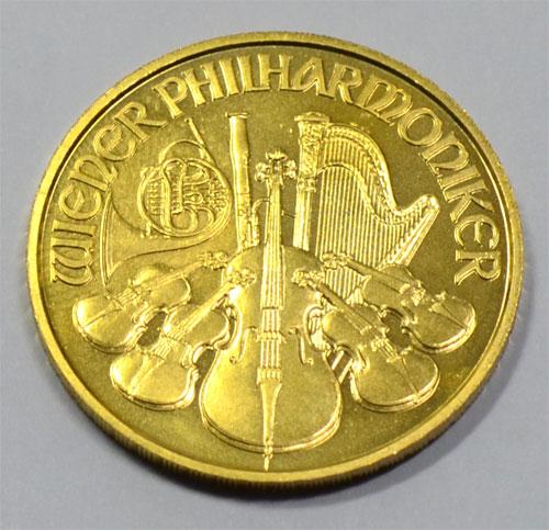 Oesterreich Wiener Philharmoniker 50 Euro 1_2 oz Feingold 9999 Goldmuenze