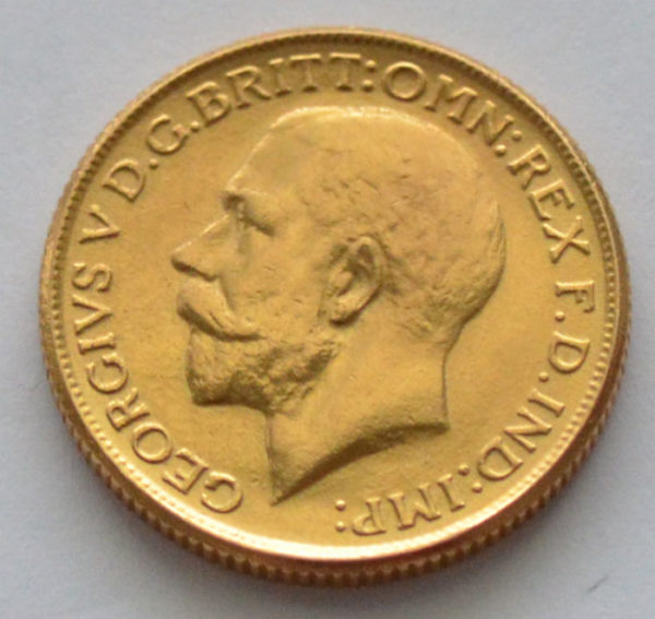 England Gross Britannien One Pound Sovereign-King-George V