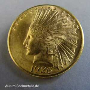 USA 10 Dollar Indian Head Gold 1907-1933