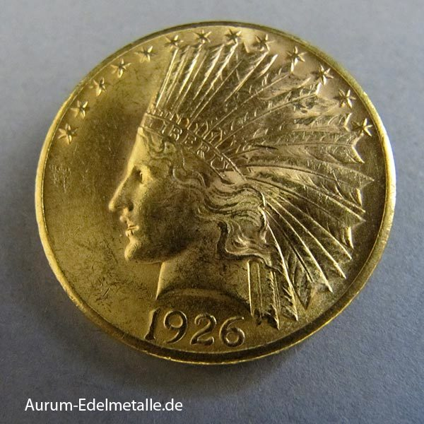 USA 10 Dollar Indian Head Gold 1907-1933