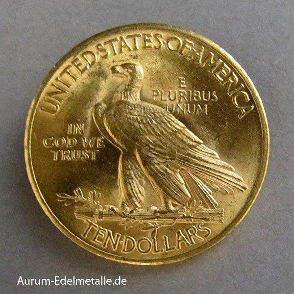 USA 10 Dollar Indian Head Gold 1908-1933