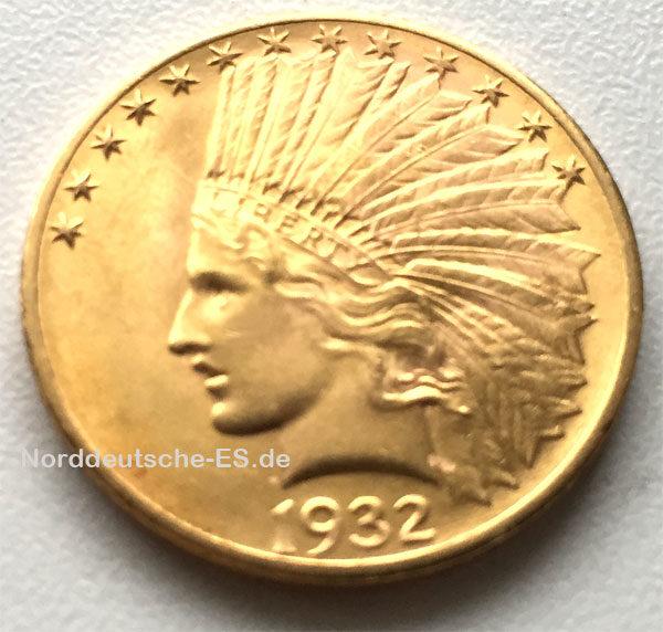 USA 10$ Dollars Eagle Indian Head