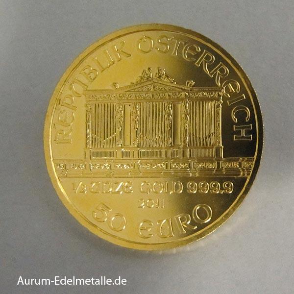 Wiener Philharmoniker 50 Euro Goldmünze