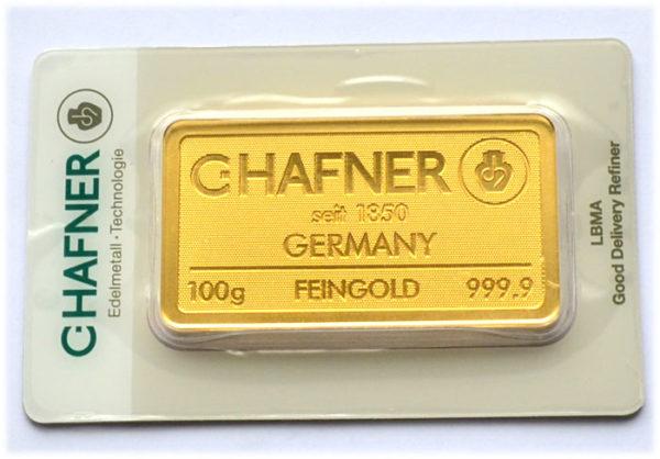 Goldbarren-100-Gramm-C.Hafner