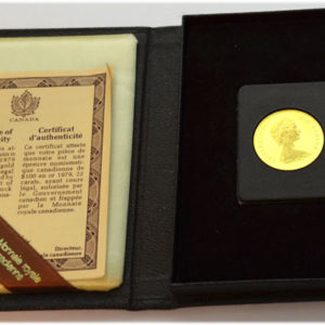 Kanada 100 Dollars Gold Elisabeth II in jewelbox