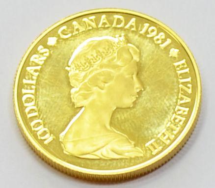 Kanada 100 Dollars Gold 1_2 oz Feingold 1981 Qeen Elisabeth