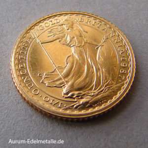 England Britannia 10 Pounds 1_10 oz Feingold