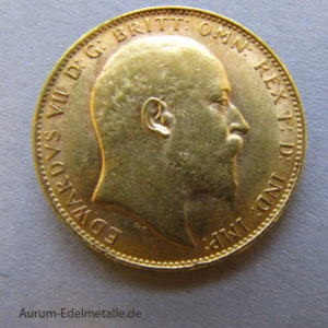 England One Pound Sovereign Edward VII