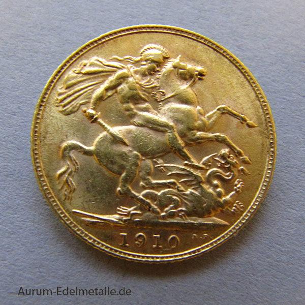 England One Pound Sovereign Edward VII