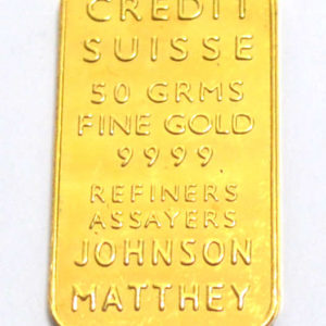 Goldbarren Johnson Matthey 50 Gramm Feingold 9999 Credit Suisse