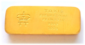 Goldbarren 100g Feingold 9999 Fuerst zu Thurn und Taxis