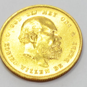Niederlande 10 Gulden Gold 1876 Koenig Willem