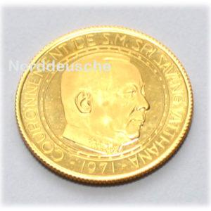 Laos Koenigreich 4000 Kip Gold Savang Vatthana, 1971