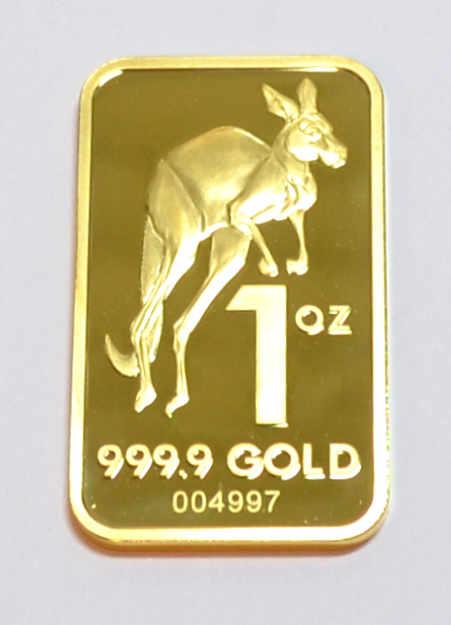 Goldbarren 1oz Australien Kangaroo 31,1g Feingold 9999