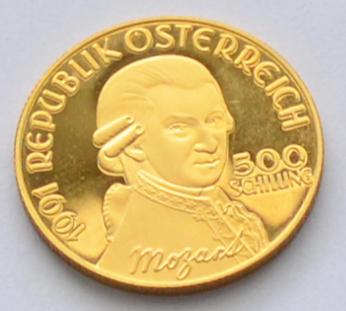 österreich 500 Schilling Goldmuenze Mozart Don Giovanni