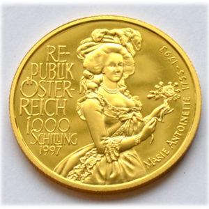 Oesterreich 1000 Schilling Gold -marie-antoinette-2