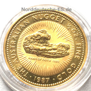 Australien-Nugget-50-Dollars 1987 Feingold 9999 1_2oz