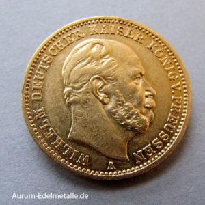 Deutsches Reich 20 Mark Gold Wilhelm Preussen 1871-1873
