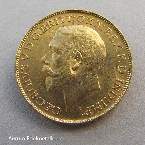 England One Pound Sovereign George V