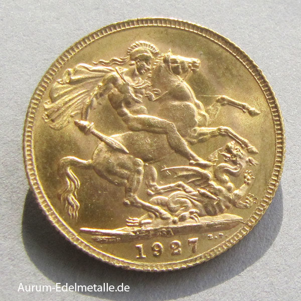 Sovereign George V Gold Drachentöter one pound