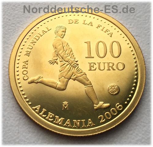 Spanien 100 Euro Gold Copa Mundial De La Fifa Feingoldmünze 999