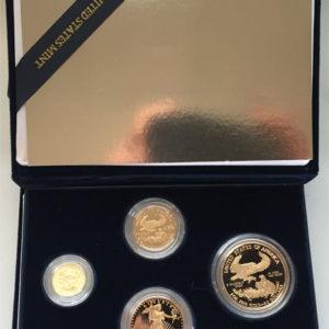 USA American Gold-Eagle kompletter Satz
