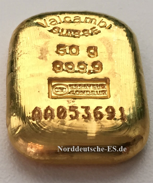 Goldbarren-9999-50-Gramm-Valcambi-Schweiz-gegossen