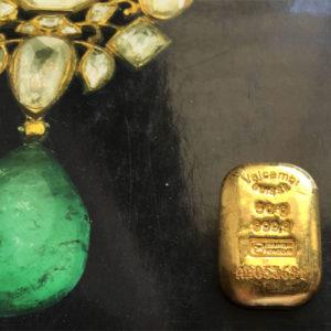 Goldbarren 50g Goldbarren 9999 Valcambi Schweiz gegossen
