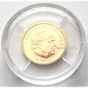 Monaco 10 Euro Goldmuenze Fuerst Rainier III