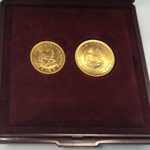Sued-Afrika 1 und 2 Rand Goldmuenzen