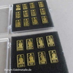 Goldbarren 0,5 g Feingold 9999 Diverse Motivbarren Deutscher Bundeskanzler und Bundespräsidenten