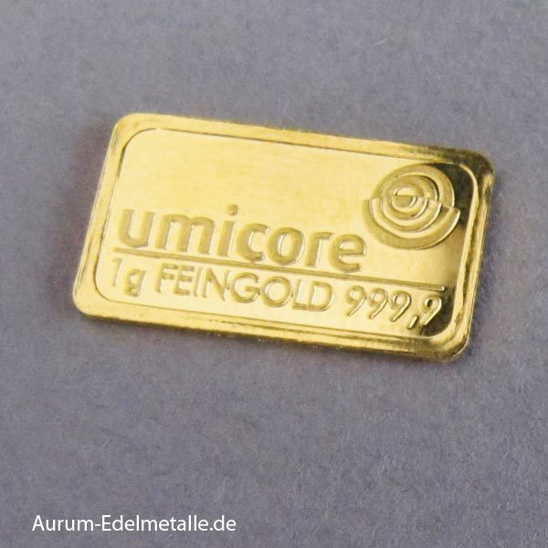 Goldbarren 1 g umicore