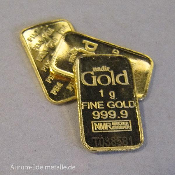 Goldbarren 1g Feingold 9999 verschiedene HerstellerGoldbarren 1g Feingold 9999 verschiedene Hersteller