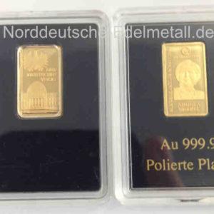 Goldbarren 0_5 g Feingold 9999 Deutsche Bundeskanzler