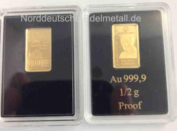 Goldbarren-0,5g Helmut-Schmidt