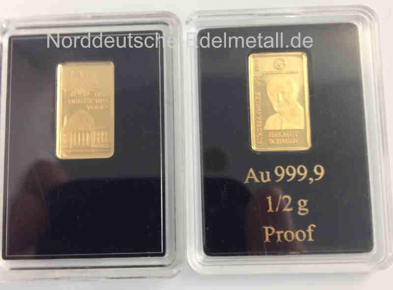 Goldbarren 05 G Feingold 9999 Deutsche Bundeskanzler Aurum